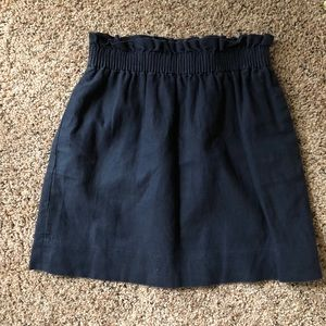 JCrew Navy linen mini skirt